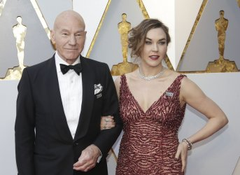 Sir Patrick Stewart arrives at the 90th Annual Academy Awards in Hollywood