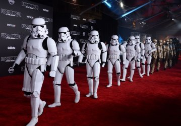 """Storm troopers attend the """"Rogue One: A Star Wars Story"""" premiere in Los Angeles"""