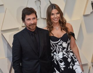 Christian Bale and Sibi Bale arrive for the 91st Academy Awards