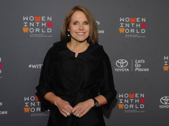 Katie Couric arrives at Women in the World Summit in New York