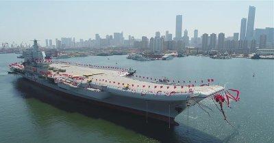 China Launches Second Aircraft Carrier at Dalian Shipyard