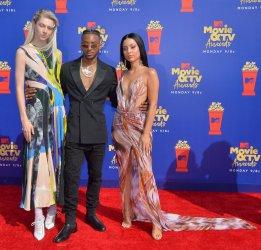 Hunter Schafer, Algee Smith and Alexa Demie attend the MTV Movie & TV Awards in Santa Monica, California