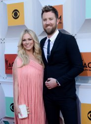 Cassie McConnell and Charles Kelley attend the 51st  annual Academy of Country Music Awards in Las Vegas