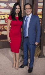 """Rob Schneider and Patricia Azarcoya Arce attend """"The Ridiculous Six"""" premiere in Los Angeles"""