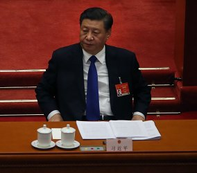 Xi Attends a NPC Session in Beijing, China
