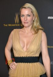 Gillian Anderson attends the Weinstein Company & Netflix 2016 Golden Globes after party