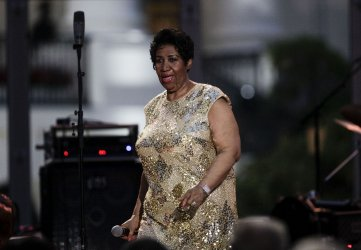 Aretha Franklin plays at International Jazz Day Concert at the White House