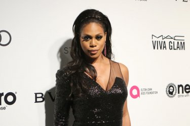 Laverne Cox attends the Elton John Aids Foundation Oscar viewing party