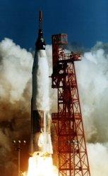 Mercury-Atlas 6 in its 1966 flight carrying John Glenn into orbit