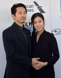 Steven Yeun and Joana Pak attend Film Independent Spirit Awards in Santa Monica