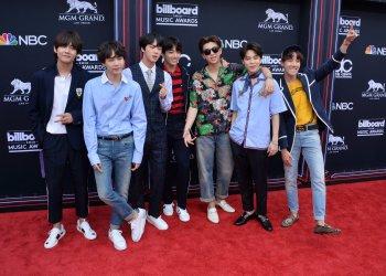 BTS arrives at the 2018 Billboard Music Awards in Las Vegas, Nevada