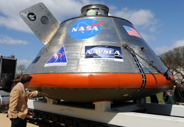 NASA's Orion crew vehicle mockup displayed in Washington