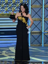 Julia Louis-Dreyfus onstage at the 69th annual Primetime Emmy Awards in Los Angeles