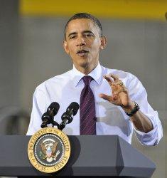 Obama talks in Cedar Rapids, Iowa