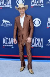 Dustin Lynch attends the Academy of Country Music Awards in Las Vegas