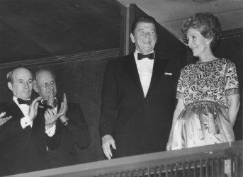 Ronald and Nancy Reagan Appauled at Opera