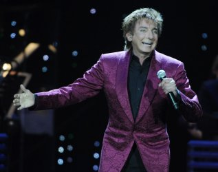 Barry Manilow performs in London