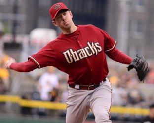 Arizona Diamondbacks Pitcher Brad Ziegler in Pittsburgh