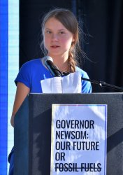 Greta Thunberg calls for LA and the planet to abandon fossil fuels