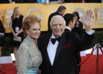 Ernest Borgnine and wife Tova arrive at the 17th annual Screen Actors Guild Awards in Los Angeles
