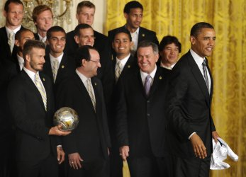 Pres. Obama welcomes LA Galaxy, MLS's championship team, to the White House