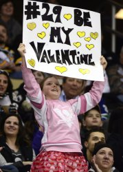 Pittsburgh Penguins Fans Celebrate Valentine's Day in Pittsburgh