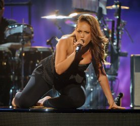 Alicia Keys performs at the 2010 BET Awards in Los Angeles