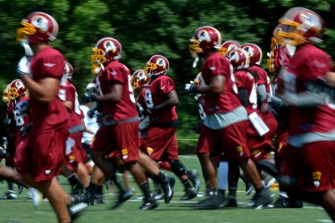 Redskins Training Camp in Ashburn, Virginia