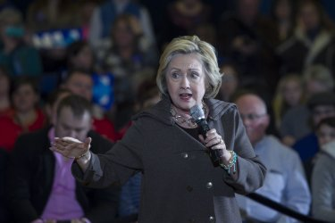 Hillary Clinton at Town Hall Meeting in New Hampshire