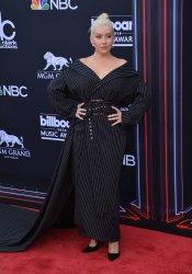 Christina Aguilera arrives at the 2018 Billboard Music Awards in Las Vegas, Nevada