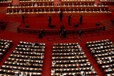 Top Leaders and Delegates Attend The CPPCC Closing Session in Beijing, China