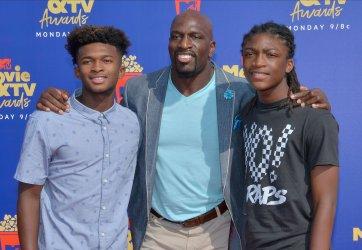 Thaddeus Bullard, Titus Bullard and Titus O'Neil attend the MTV Movie & TV Awards in Santa Monica, California