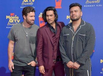 Brody Jenner, Justin Brescia and Frankie Delgado attend the MTV Movie & TV Awards in Santa Monica, California