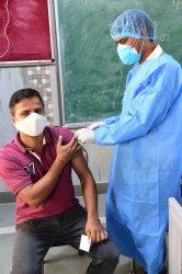 Vaccination Drive in New Delhi, India