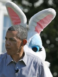 President Obama participates in the White House Easter Egg Roll