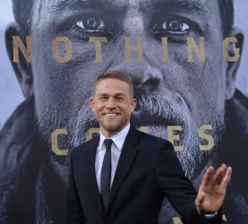 """Charlie Hunnam attends the """"King Arthur: Legend of the Sword"""" premiere in Los Angeles"""