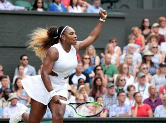 Serena Williams rerturns the ball in her match against Alison Riske