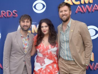 Dave Haywood, Hillary Scott and Charles Kelley attend the 53rd annual Academy of Country Music Awards in Las Vegas