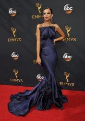 Emily Ratajkowski attends the 68th Primetime Emmy Awards in Los Angeles