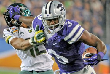 Oregon vs Kansas State in the 42nd Fiesta Bowl in Arizona