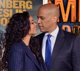 "Rosario Dawson and Cory Booker attend ""Zombieland: Double Tap premiere in Los Angeles"