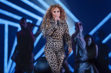 Jennifer Lopez performs in Minneapolis