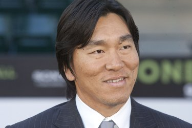 """Hideki Matsui arrives at the premiere of """"Moneyball"""" in Oakland, California"""
