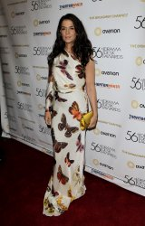 Annabella Sciorra arrives at the 56th Annual Drama Desk Awards at the Hammerstein Ballroom in New York
