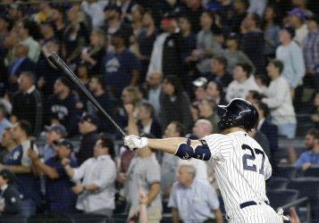 New York Yankees Giancarlo Stanton hits a Grand Slam