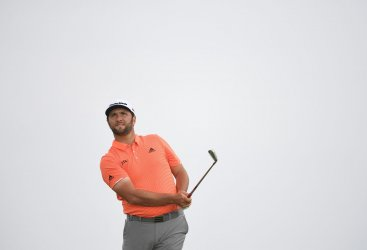 Jon Rahm on the 1st day of the Open Championship at Royal Portrush