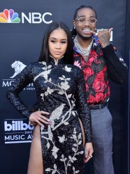 Saweetie and Quavo attend the 2019 Billboard Music Awards in Las Vegas