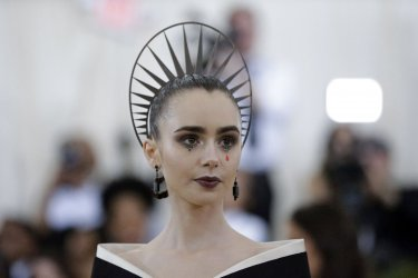 Lily Collins at the Met Gala in New York