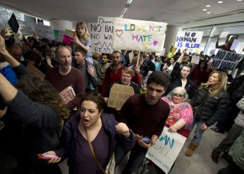 San Francisco Airport jammed with protesters