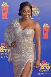 Tiffany Haddish attends the MTV Movie & TV Awards in Santa Monica, California